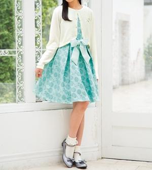 フラワージャガードドレス